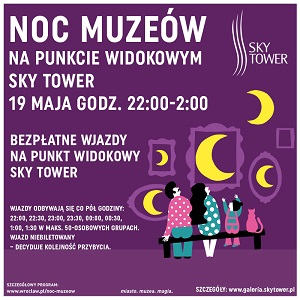 noc muzeów sky tower